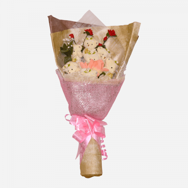 Love, I love you, flower centerpieces, bearly beautiful